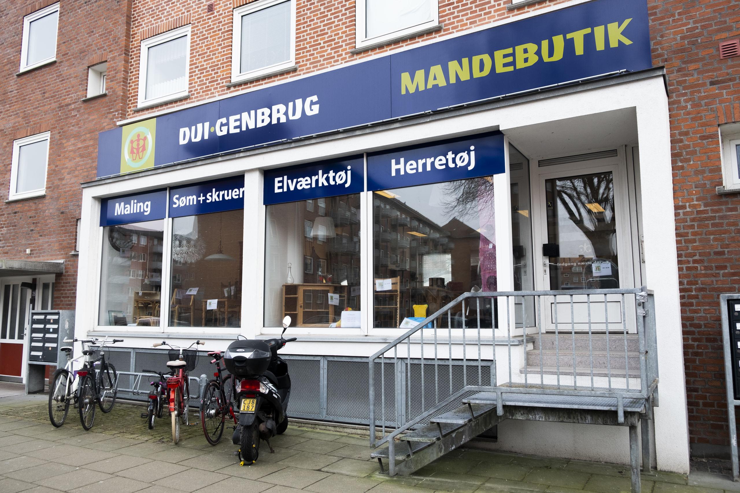Her på Sjællandsgade har den nye butik til huse. Foto: Lasse Sand