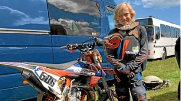 11 årige Gustav er udtaget til VM i Motocross i Italien. Foto: Susanne Thomsen