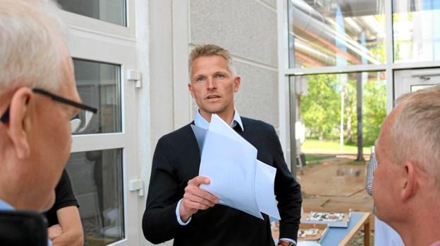 Formanden for Sæby Varmeværk, Rune Dam Dyhr, er yderst tilfreds med værkets bæredygtige omstilling. Foto: Tommy Thomsen