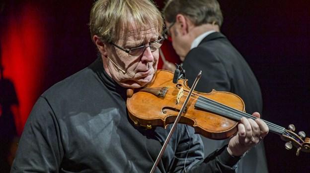 Kim Sjögren med violin og Vagn Egon Jørgensen med harmonika forenet om uforglemmelige Evert Taube-viser. Foto: Kim Dahl Hansen
