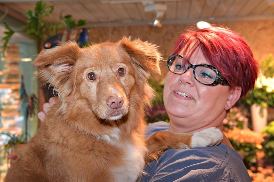 Et godt par - hunden Felix er altid med Lene på arbejde. Foto: Bent Bach BENT BACH