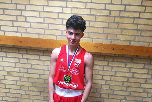 Letweltervægt bokser Bayhas Masoud fra Brønderslev Bokseklub.Privatfoto