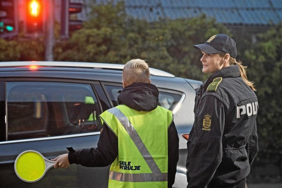 Der vil i uge 2 være yderligere kontrol af skolevejene. PR-foto: Rådet for Sikker Trafik
