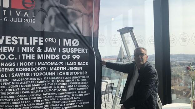 Peter Møller Madsen har netop præsenteret programmet til årets Nibe Festival. Foto: Camilla Gammelgaard