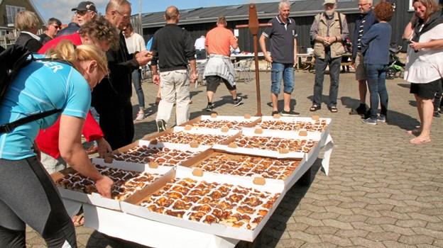 Vild med vand fin der sted på Sæby Havn på lørdag.