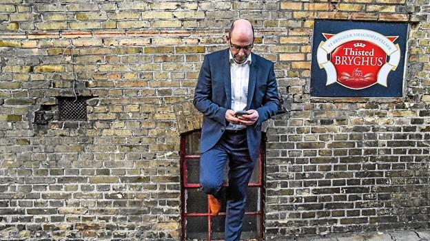 Direktør Aage Svenningsen kan glæde sig over at øl-entusiasterne stadig har et godt øje til bryghuset i Thy, der blev 3´er i Årets Bryghus-konkurrence. Arkivfoto