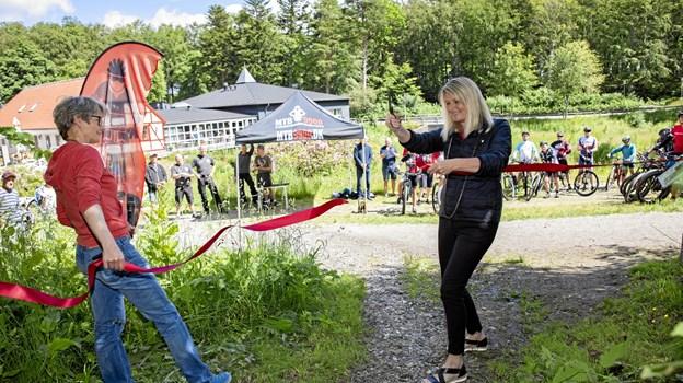 Borgmester Birgit Hansen klippede snoren.