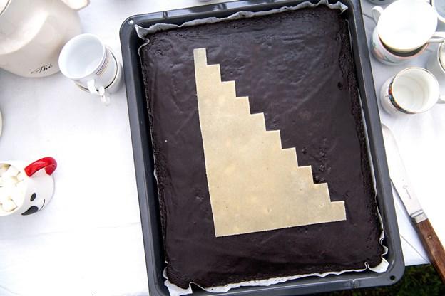 En ganske særlig kage var kreeret i dagens anledning. Foto: Laura Guldhammer
