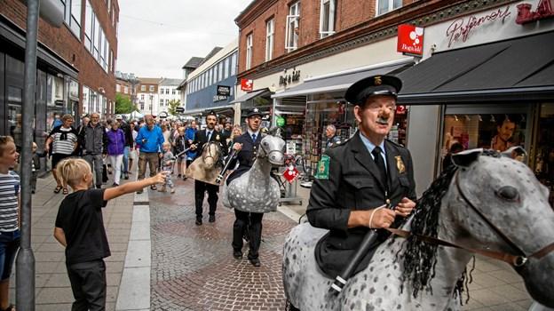 Patruljeringen i gaderne øges i den kommende tid. Foto: FREDERIK