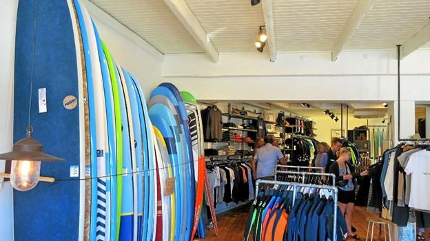 Surfershoppen i Huset HAVS. Foto: Kirsten Olsen Kirsten Olsen
