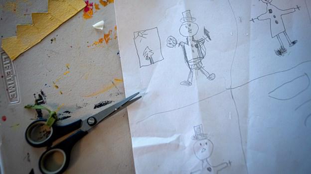 En lille kunstner har været i gang. Martin Damgård