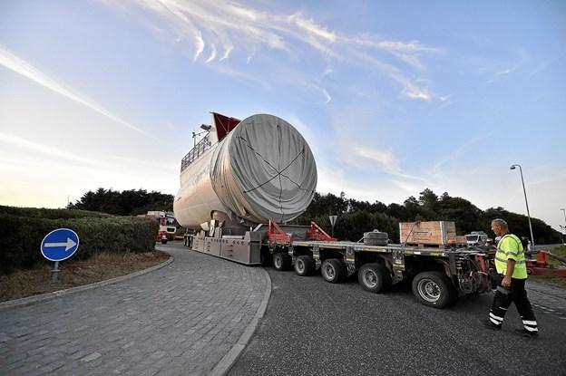 Den 8 MW store nacelle er en modificeret udgave af en tidligere model fra Siemens Gamesa.Foto: Ole Iversen