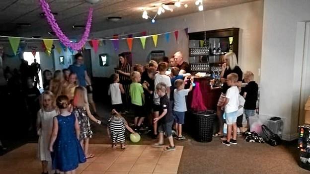 Der er også sørget godt for arrangementer for børnene ved årets byfest i Kongerslev og fredag den 9. august klokken 18.00 er der børnediskotek . Privatfoto Privatfoto