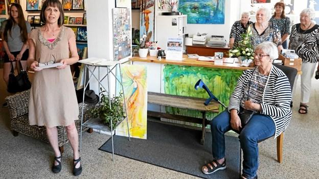 Karin Dahl Assing (t.v.) leverede åbningstalen. Foto: Allan Mortensen