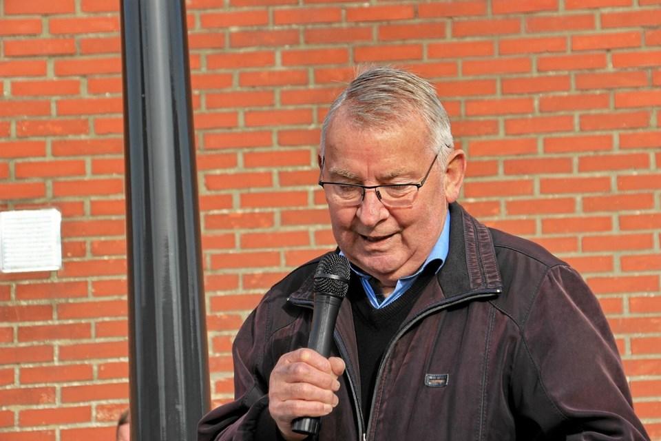 Esben Oddershede holdt talen ved indvielsen. Foto: Hans B. Henriksen Hans B. Henriksen