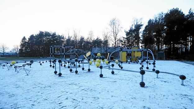 Parkourbanen er allerede klar til brug. Foto: Allan Mortensen Allan Mortensen