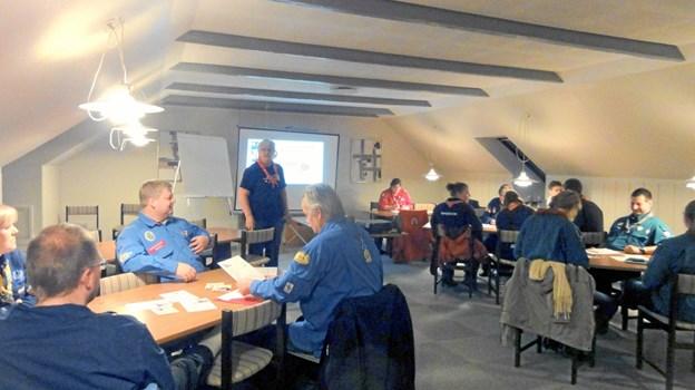 Gilderne mødes i klunhuset på Banegårdsvej. Privatfoto