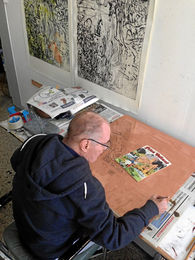 Forfatteren Erik Steffensen gæster i oktober Vesthimmerlands Museum og vil fortælle om Per Kirkebys liv og værk. Privatfoto