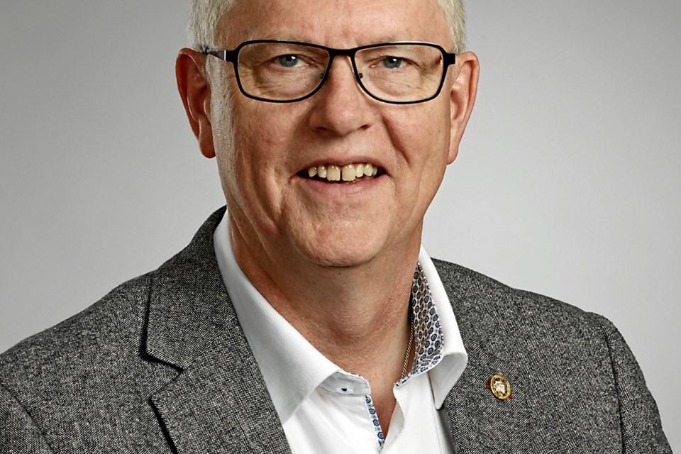 Generalsekretær i KFUMs Soldatermission, Per Møller Henriksen - taler 23. januar ved soldatervennefesten i Hobro. ?Privatfoto