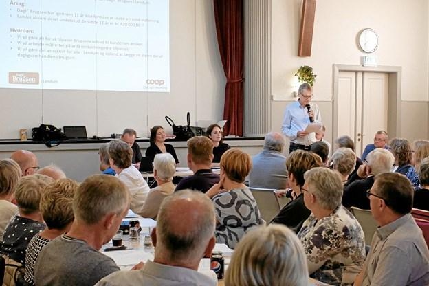 Søren Tjønneland fremlægger sin del af bestyrelsens beretning. Foto: Niels Helver Niels Helver