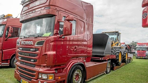 Trækkere med alle mulige vogne var der med ved truckshowet i Løgstør. Foto: Mogens Lynge Mogens Lynge