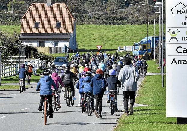 Afsted det gik - hen ad Fyrvej Foto: Ole Iversen