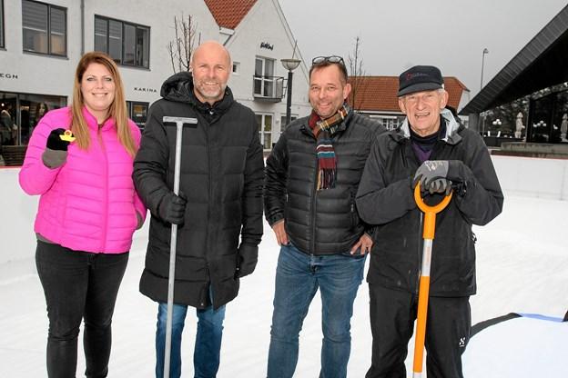 Jannie Ratke, Per Kalstrup, Lars Abildgaard og Peter Dahl.Foto: Flemming Dahl Jensen