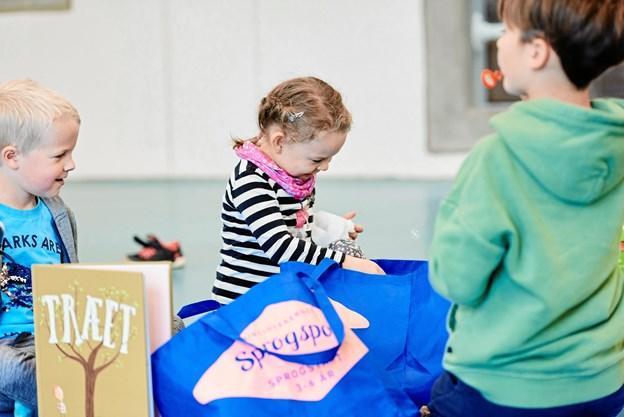 Aalborg Bibliotekerne er gået sammen med andre centralbiblioteker om at udvikle aktivitetstilbud, der skal stimulere børns fornemmelse for sprog. PR-foto