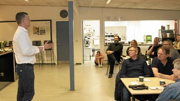 Omkring 70 tilhørere havde indfundet sig til arrangementet. Foto: Allan Mortensen