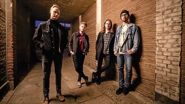 Vinderne af Byens Bedste Band, Antro Echo, skal spille på Bålhøj Festival til august.Foto: Anders Riishede