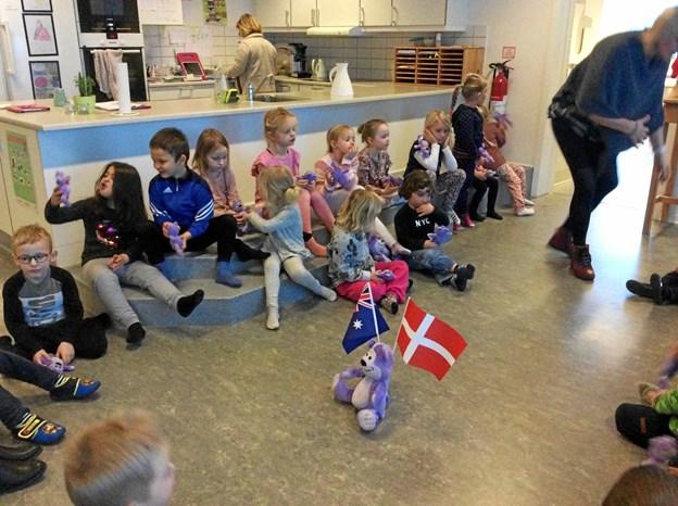 Bamserne i Vester Hornum var både med til indendørs aktiviteter.... Privatfoto