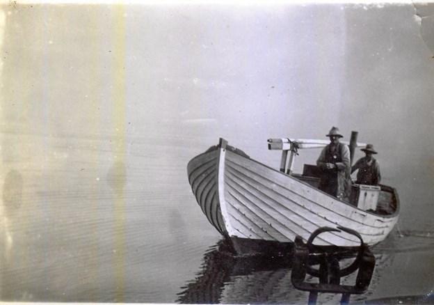 Havbåden Elbo, som den så ud i den originale udgave, og som den nuværende Elbo er bygget ud fra. Privatfoto