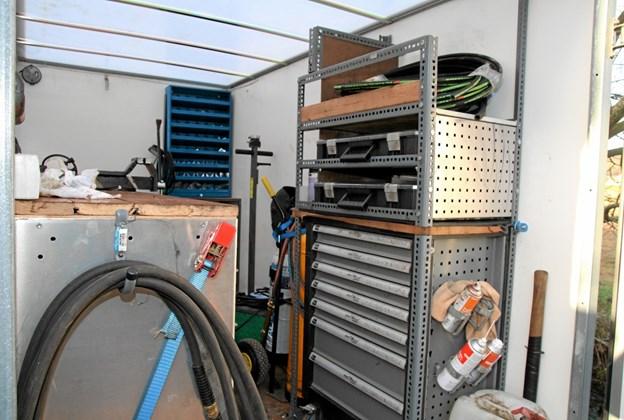 Der kan klares mange reparationer fra denne trailer. Foto: Flemming Dahl Jensen Flemming Dahl Jensen
