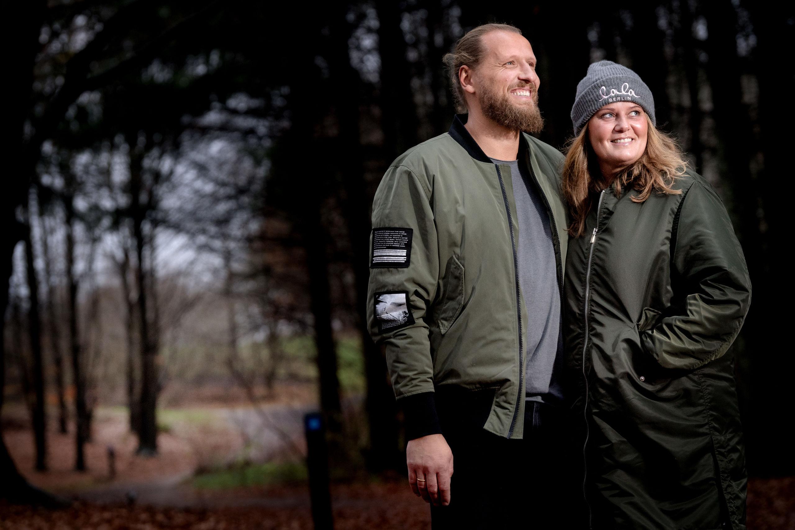 Henrik og Trine Bakgaard glæder sig over, at Aalborg har taget godt imod deres julefest. Foto: Torben Hansen