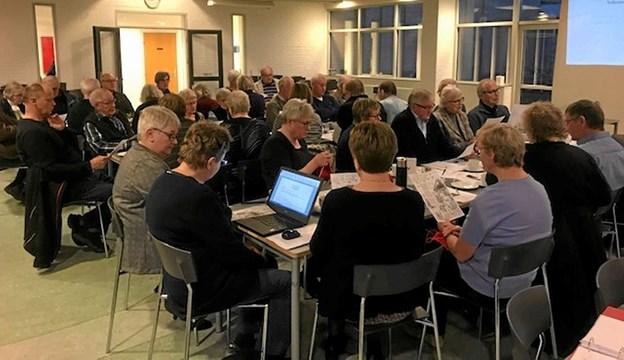Generalforsamlingen blev afholdt på Try Efterskole med 50 deltagere.  Foto: Ole Torp