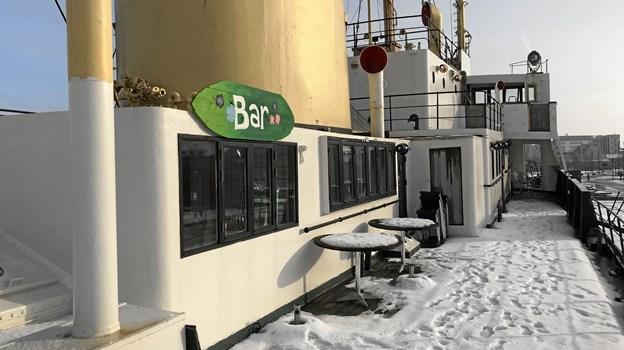 Restauranten på Elbjørn blev døbt 'Den Gamle Frue', og skibsejer Martin Kløve Lassen havde således store planer med hensyn til  madkonceptet. Foto: Torben O. Andersen