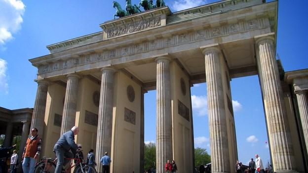 Seniorer fra hele Aalborg Kommune kan komme med på cykeltur til Berlin til sommer. Her ses Brandenburger Tor i millionbyen.