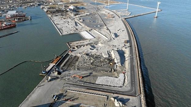 I anden halvdel af 2019 vil der være 200 nye arbejdspladser her. Foto: Frederikshavn Havn