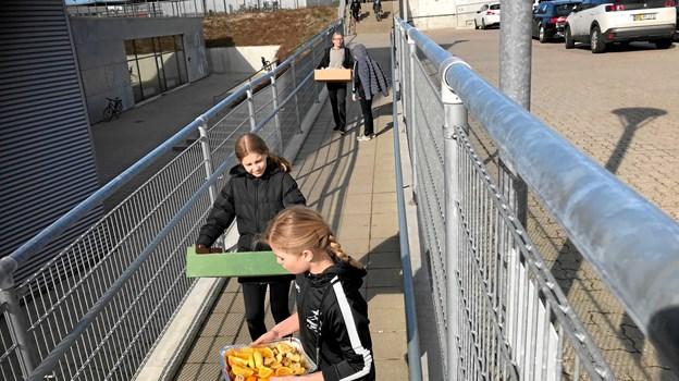 Der var nærmest madpakkerun mellem Nordstjerneskolen og Arena Nord