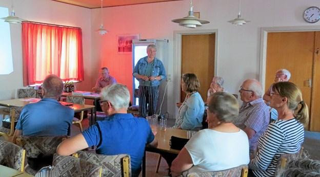 I maj 2018 blev der etableret en støtteforening. På fotoet er det Mette Hyldgaard Roussis der orienterer om planerne for Ane Maries Hus. Foto: Arkivfoto