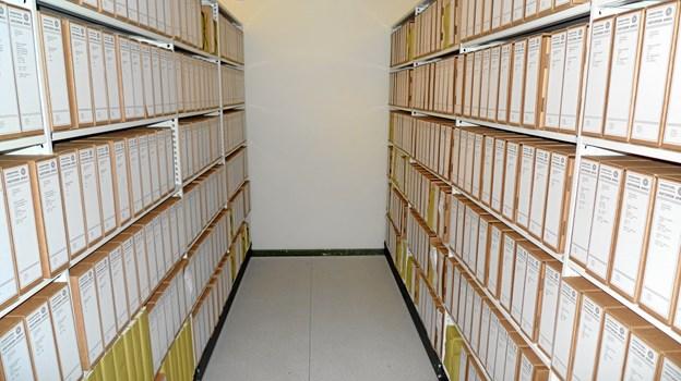 Her ses det færdige resultat - alt er ordnet, pakket på arkiv.dk.Foto: Kommunearkivet