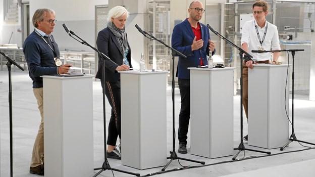 Den nye kassevask på Hirtshals Havn dannede rammen om debatten om blandt andet den fremtidige havnelov.  Foto: Danske Havne