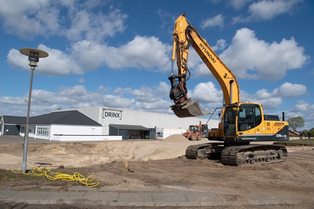 Drinx bygger en ekstra lagerhal på knap 2100 kvadratmeter. Foto: Henrik Louis