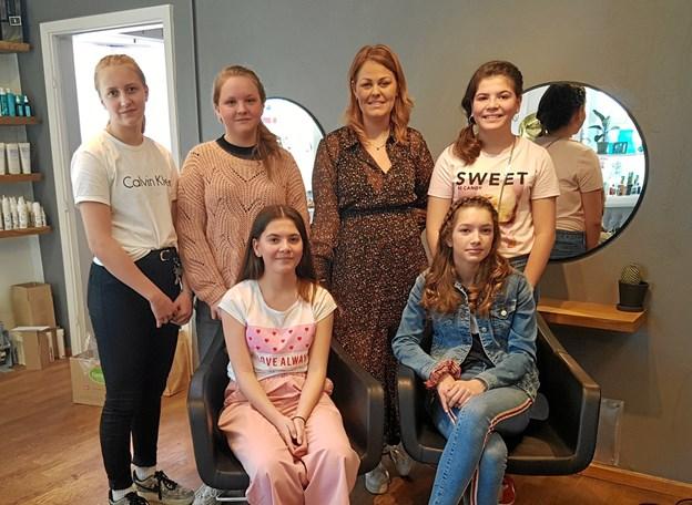 Pigerne havde en lærerig formiddag hos Askepot i Als. Foto: Privat