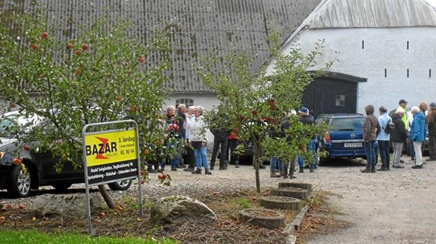 Deltagerne mødtes hos Bazar i Skelund inden turen gik videre til Korup Å. Foto: pirvat.