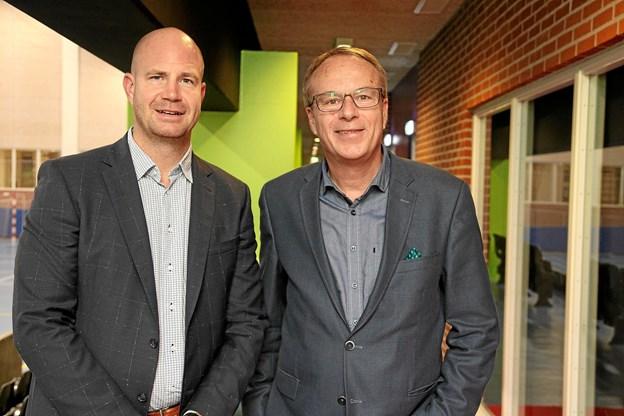 Direktør Claus Poulsen fra DGI-Huset og Jesper Frigast som har stået i spidsen for den danske delegation otte gange til OL.