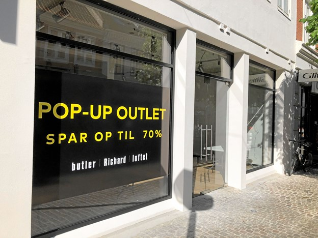 Den nye outlet ligger i lokalet, der tidligere var Solo. Foto: Henrik Poulsen.