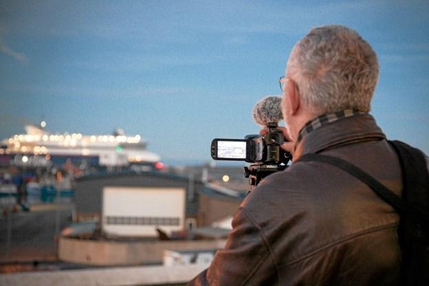 Per Christensen som har filmet og klippet til byjubilæet. Foto: Peter Jørgensen