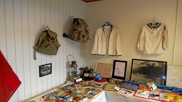 En lille udstilling af genstande fra FDF i 100 år. Foto: John Larsen