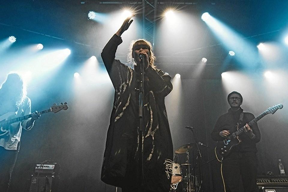 Tundra leverer musikken, mens eventteknikere fra EUC Nord i Frederikshavn står for lys og lyd. Foto: Nikolaj Bransholm